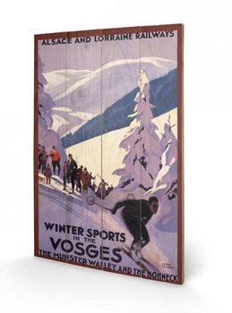 Målning på trä Winter Sports In The Vosges