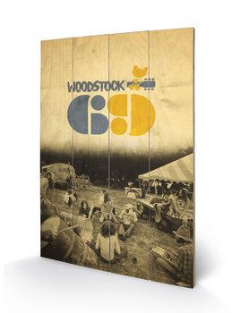 Tavla i trä Woodstock - Woodstock 69