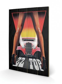 Tavla i trä  ZZ Top - Legs