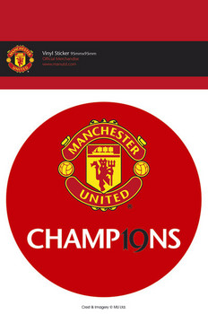 MAN UNITED - 19 titles Autocolant