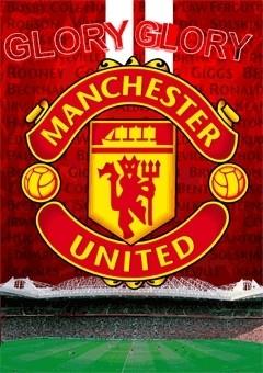 MANCHESTER UNITED - crest - плакат (poster)