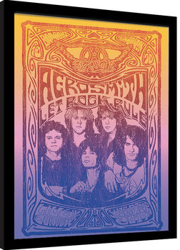 Aerosmith - Let Rock Rule Poster enmarcado