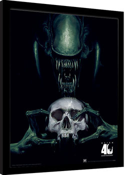Alien: Vision of Death - 40th Anniversary Poster enmarcado