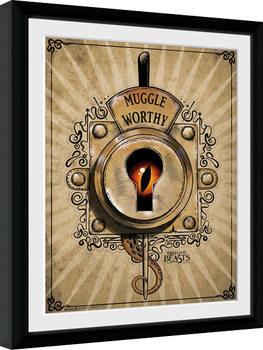 Animales fantásticos y dónde encontrarlos - Muggle Worthy Poster enmarcado
