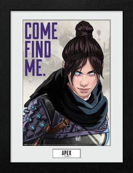 Apex Legends - Come Find Me Poster enmarcado
