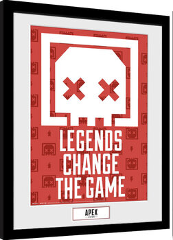 Poster enmarcado Apex Legends - Legends Change The Game