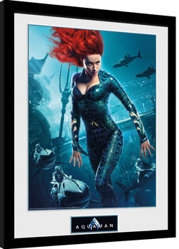 Aquaman - Mera Poster enmarcado