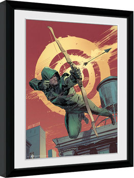 Arrow - Comic Red Poster enmarcado