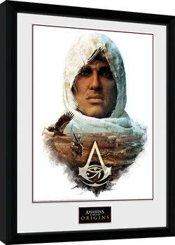 Assassins Creed Origins - Head Poster enmarcado