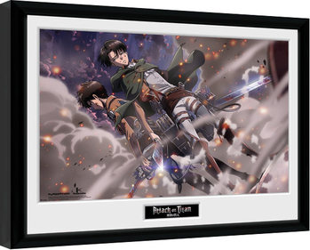 Poster enmarcado Attack On Titan - Smoke Blast
