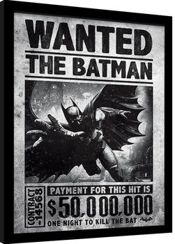 Batman: Arkham Origins - Wanted Poster enmarcado