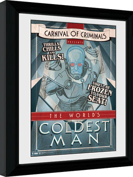 Batman Comic - Circus Coldest Man Poster enmarcado