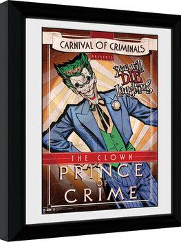 Batman Comic - Circus Joker Poster enmarcado