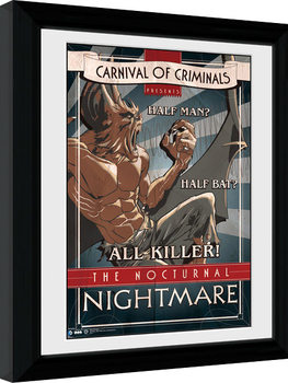 Batman Comic - Circus Nocturnal Nightmare Poster enmarcado