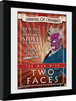 Batman Comic - Circus Two Face Poster enmarcado