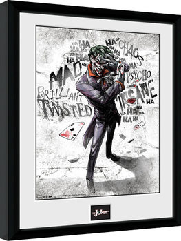 Batman Comic - Joker Type Poster enmarcado