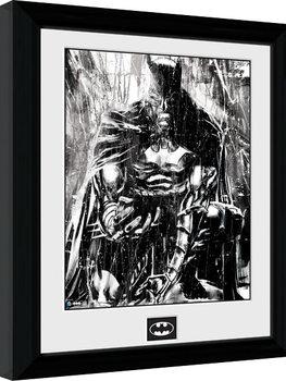 Batman Comic - Rain Poster enmarcado