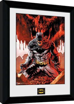 Batman Comic - Seeing Red Poster enmarcado