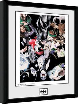 Batman Comic - Villains Poster enmarcado