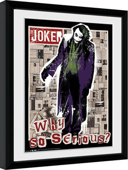 Batman: El caballero oscuro - Why So Serious Poster enmarcado