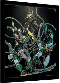 Batman - The Batman Who Laughs Poster enmarcado