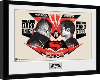 Batman Vs Superman - Face Off Poster enmarcado