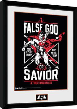 Batman Vs Superman - False God Poster enmarcado