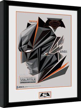 Batman Vs Superman - Volatile Poster enmarcado