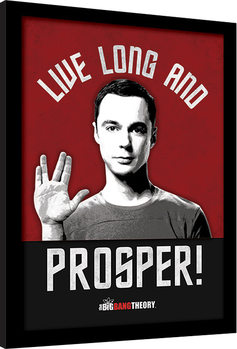 Big Bang - Live Long and Prosper Poster enmarcado