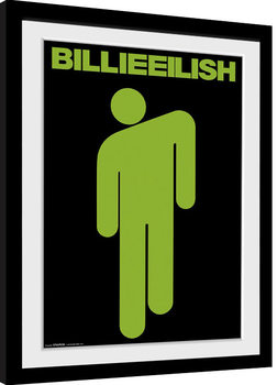 Billie Eilish - Stickman Poster enmarcado