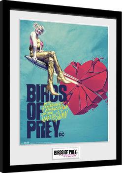Birds Of Prey: y la fantabulosa emancipación de Harley Quinn - One Sheet Bullet Poster enmarcado
