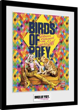 Birds Of Prey: y la fantabulosa emancipación de Harley Quinn - One Sheet Hyena Poster enmarcado
