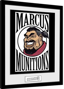 Borderlands 3 - Marcus Logo Poster enmarcado