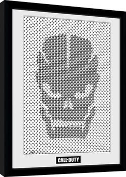 Call Of Duty - Skull Pattern Poster enmarcado