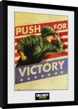 Call of Duty WWII - Push For Victory Poster enmarcado