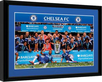 Chelsea - Premier League Winners 14/15 Poster enmarcado