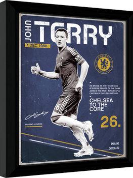 Chelsea - Terry Retro Poster enmarcado
