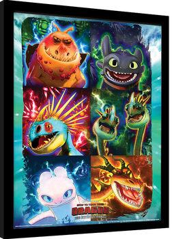 Cómo entrenar a tu dragón 3 - Mug Shots Poster enmarcado