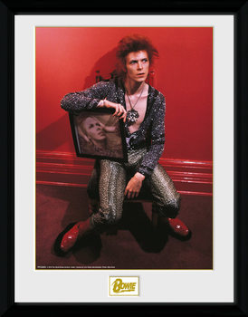 David Bowie - Chair Poster enmarcado