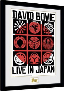 David Bowie - Live In Japan Poster enmarcado
