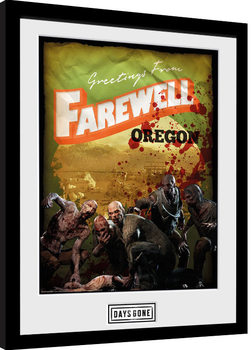 Days Gone - Greetings From Farewell Poster enmarcado