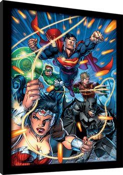 DC Comics - Justice League Attack Poster enmarcado