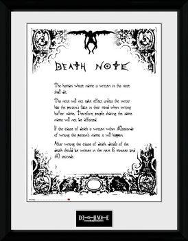 Death Note - Death Note marco de plástico