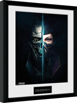 Dishonored 2 - Faces Poster enmarcado