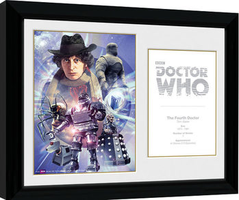 Doctor Who - 4th Doctor Tom Baker Poster enmarcado