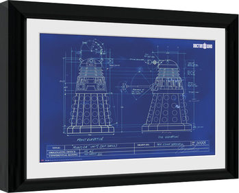 Poster enmarcado Doctor Who - Dalek Blueprint