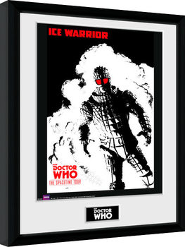 Doctor Who - Spacetime Tour Ice Warrior Poster enmarcado
