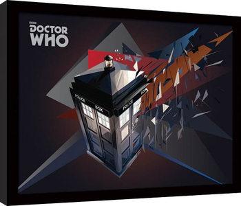 Doctor Who - Tardis Geometric Poster enmarcado