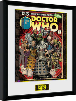 Doctor Who - Villains Comic Poster enmarcado