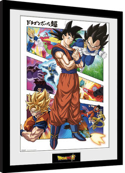 Dragon Ball - Panels Poster enmarcado
